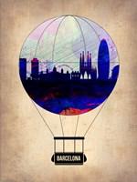 Barcelona Air Balloon Fine Art Print