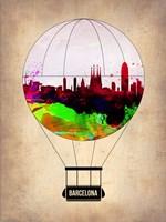 Barcelona Air Balloon 2 Fine Art Print
