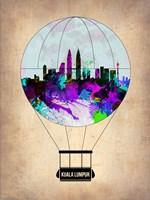 Kuala Lumpur Air Balloon Fine Art Print