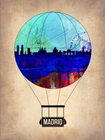 Madrid Air Balloon Fine Art Print