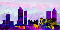 Atlanta City Skyline Fine Art Print