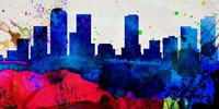 Denver City Skyline Fine Art Print