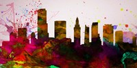 Miami City Skyline Fine Art Print