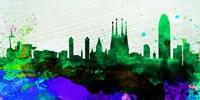 Barcelona City Skyline Fine Art Print