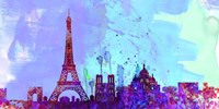 Paris City Skyline Fine Art Print