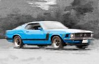 1970 Ford Mustang Boss Blue Fine Art Print