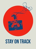 Stay On Track Circle 1 Fine Art Print