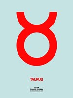 Taurus Zodiac Sign Red Fine Art Print