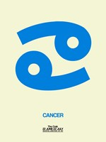 Cancer Zodiac Sign Blue Fine Art Print