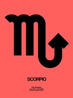 Scorpio Zodiac Sign Black Fine Art Print