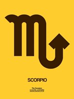 Scorpio Zodiac Sign Brown Fine Art Print