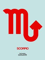 Scorpio Zodiac Sign Red Fine Art Print