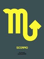 Scorpio Zodiac Sign Yellow Fine Art Print