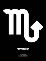 Scorpio Zodiac Sign White Fine Art Print