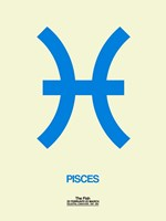 Pisces Zodiac Sign Blue Fine Art Print