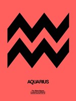 Aquarius Zodiac Sign Black Fine Art Print
