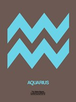 Aquarius Zodiac Sign Blue Fine Art Print