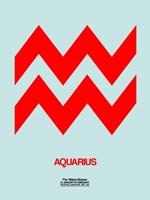 Aquarius Zodiac Sign Red Fine Art Print