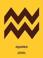 Aquarius Zodiac Sign Brown Fine Art Print