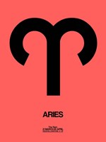 Aries Zodiac Sign Black Fine Art Print