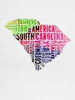 South Carolina Watercolor Word Cloud Fine Art Print