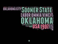 Oklahoma Word Cloud 1 Fine Art Print