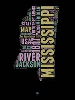 Mississippi Word Cloud 1 Fine Art Print