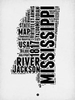 Mississippi Word Cloud 2 Fine Art Print
