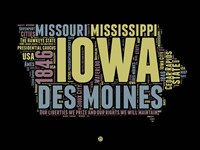 Iowa Word Cloud 1 Fine Art Print
