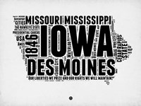 Iowa Word Cloud 2 Fine Art Print