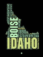 Idaho Word Cloud 1 Fine Art Print