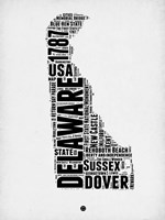 Delaware Word Cloud 2 Fine Art Print