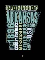 Arkansas Word Cloud 1 Fine Art Print