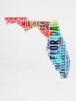 Florida Watercolor Word Cloud Fine Art Print