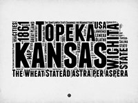 Kansas Word Cloud 2 Fine Art Print