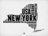 New York Word Cloud 2 Fine Art Print