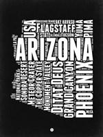 Arizona Black and White Map Fine Art Print