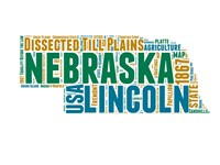 Nebraska Word Cloud Map Fine Art Print
