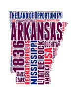 Arkansas Word Cloud Map Fine Art Print