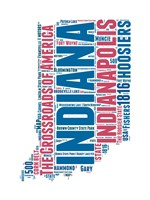 Indiana Word Cloud Map Fine Art Print