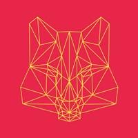 Fox on Red Fine Art Print