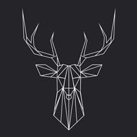 Deer Polygon Fine Art Print