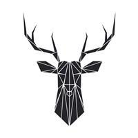 Black Polygon Deer Fine Art Print