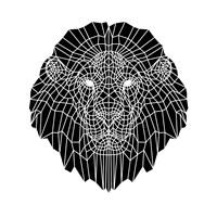 Lion Head Black Mesh 2 Fine Art Print