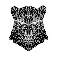Panther Head Mesh Fine Art Print