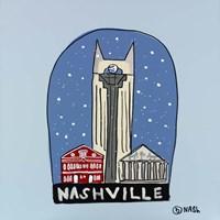 Nashville Snow Globe Framed Print