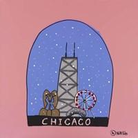 Chicago Snow Globe Fine Art Print