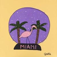Miami Snow Globe Fine Art Print