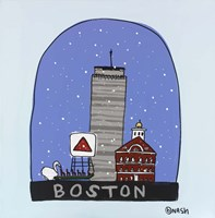Boston Snow Globe Fine Art Print