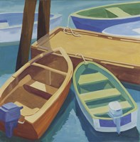 Boats At The Dock Fine Art Print